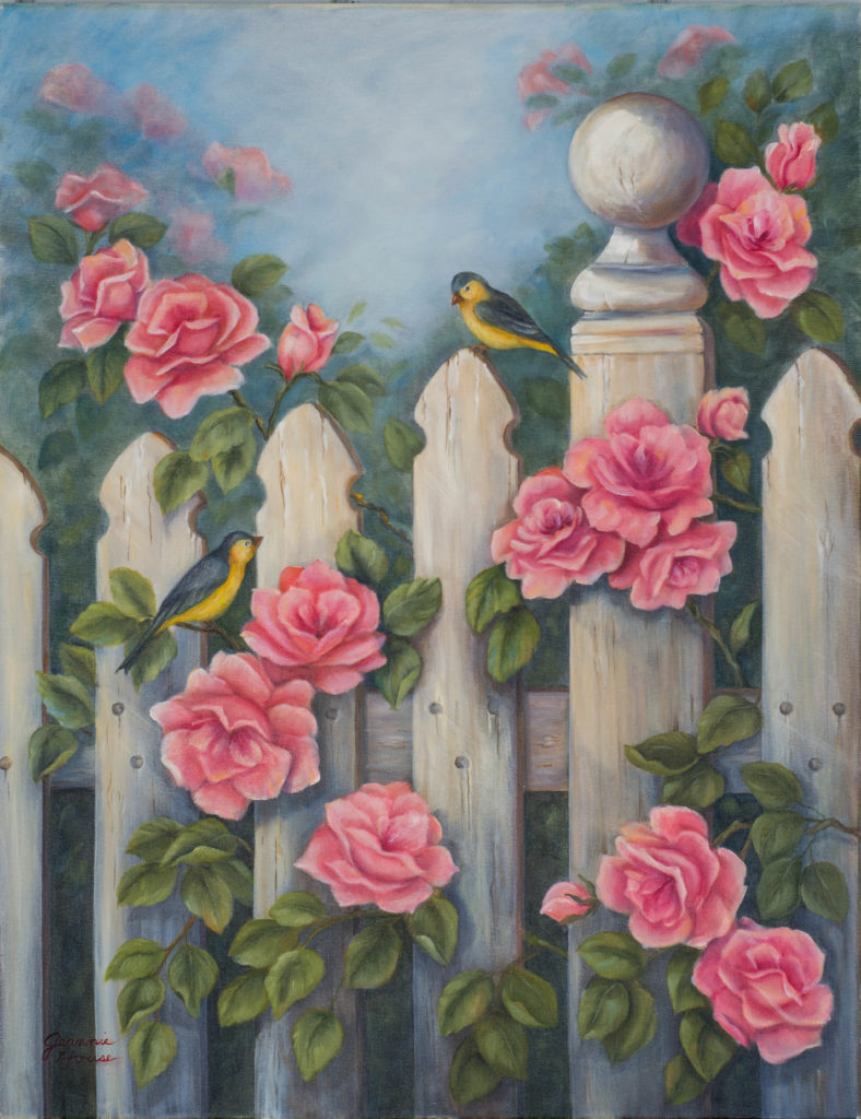 Finches and Roses